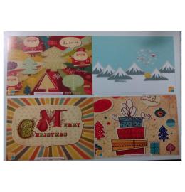 Conjunto 4 postais natalicios