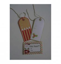 Conjunto 5 etiquetas natalicias