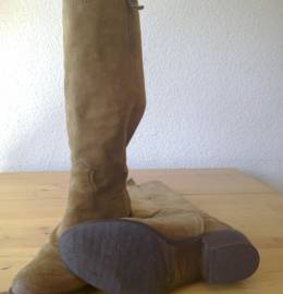 Botas altas Pele SEASIDE / CIETOTAN castanho claro