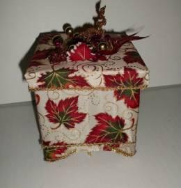 Caixa decorativa de natal