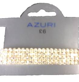 Azuri 4 row diamante bracelet