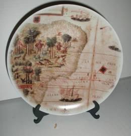 Prato em porcelana Coleção 500 anos Portugal Brasil