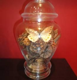 Peça decorativa em vidro