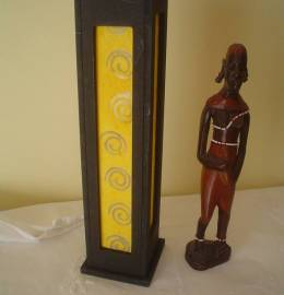 Biombo para velas + imagem africana