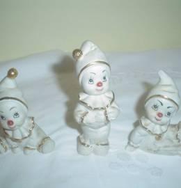 trio de palhaços -  em porcelana
