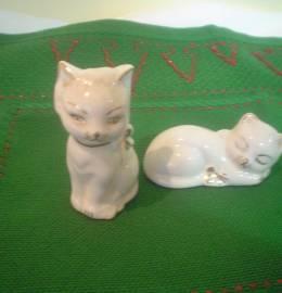duo de gatinhos em porcelana