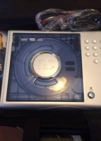 Leitor DVD portátil com mala de transporte
