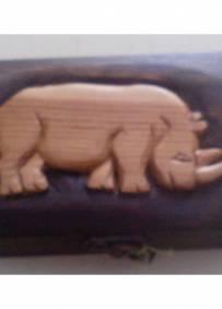Artesanato Solidario caixa madeira esculpida