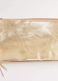 Bolsa em cor ouro rosa 21cm x 10cm