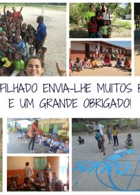 Padrinho de Grupo de alunos na Beira
