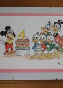 Desenho a lápis - Mickey, Donald, Tio Patinhas e Sobrinhos