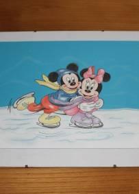 Desenho a lápis Mickey e Minnie