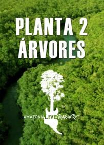 2 árvores R$9 - Taxas R$1,80