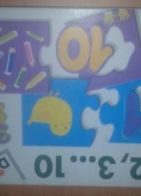 Puzzle didactico numeros crianca