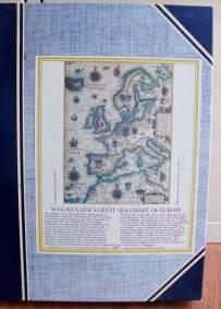 Puzzle de madeira da Carta Náutica Europeia de Waghenaer (Optimago, 1981)