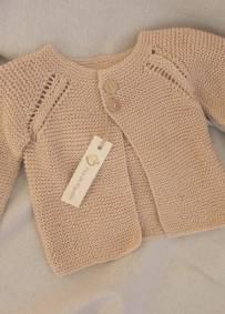 Casaco de bebé - Tricô 100% Algodão