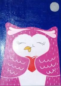Pintura em Acrilico, A Corujinha