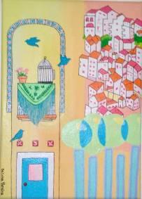 Pintura em Acrilico. Mediterrâneo