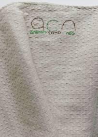 Manta bege em algodão ACN 53cm x 30cm