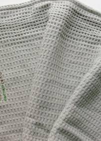 Manta em algodão cinzento claro ACN 62cm x 37cm