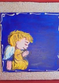 Anjo - azulejo 15cmX15cm