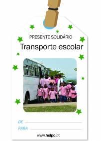 Presente solidário de natal - Transporte Escolar