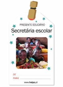 Presente solidário de natal - Secretária Escolar