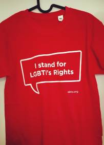 T-shirt - I stand for LGBTI´s rights