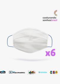 Pacote de 6 Máscaras Costurando Sonhos