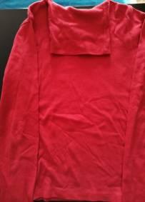 Camisola de manga comprida vermelha
