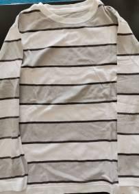 Camisola listrada de manga comprida