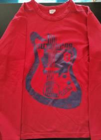 Camisola de manga comprida estampada vermelha