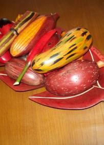 Bandeja com fruta - Artesanato de S. Tomé e Príncipe