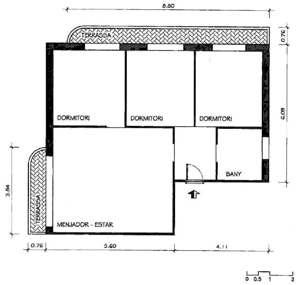 Piso en venta en Rellinars, Barcelona, Calle Serrat, 62.400 €, 3 habitaciones, 1 baño, 70 m2