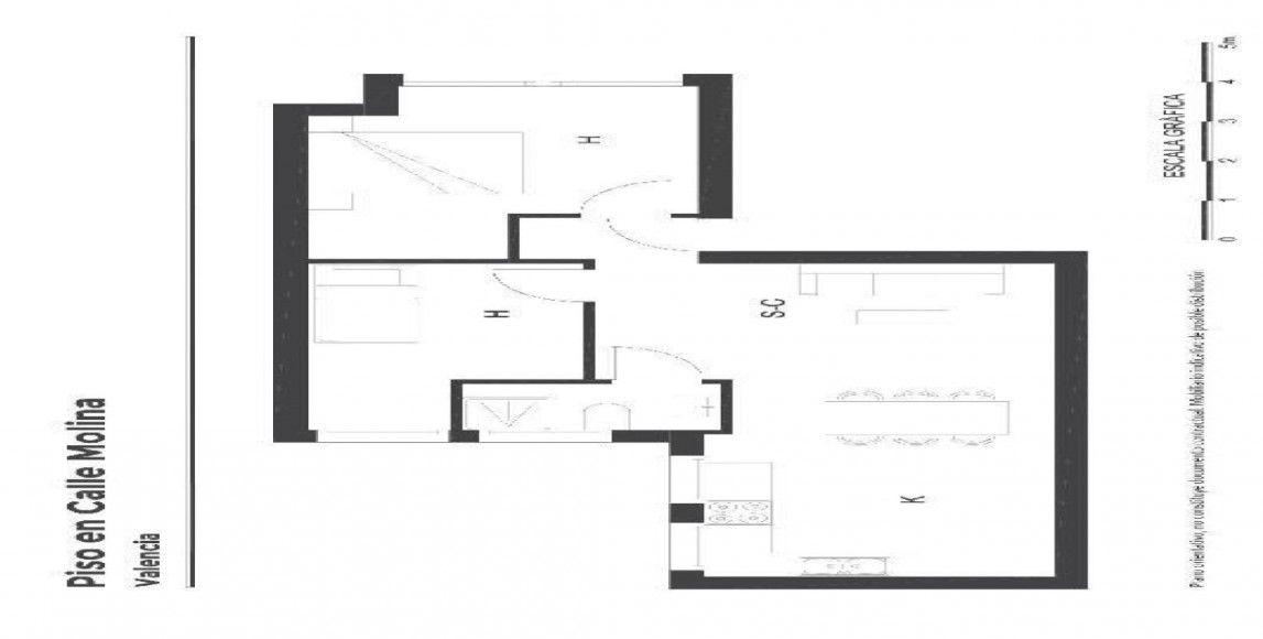 Piso en venta en Piso en Valencia, Valencia, 95.500 €, 2 habitaciones, 1 baño, 59 m2