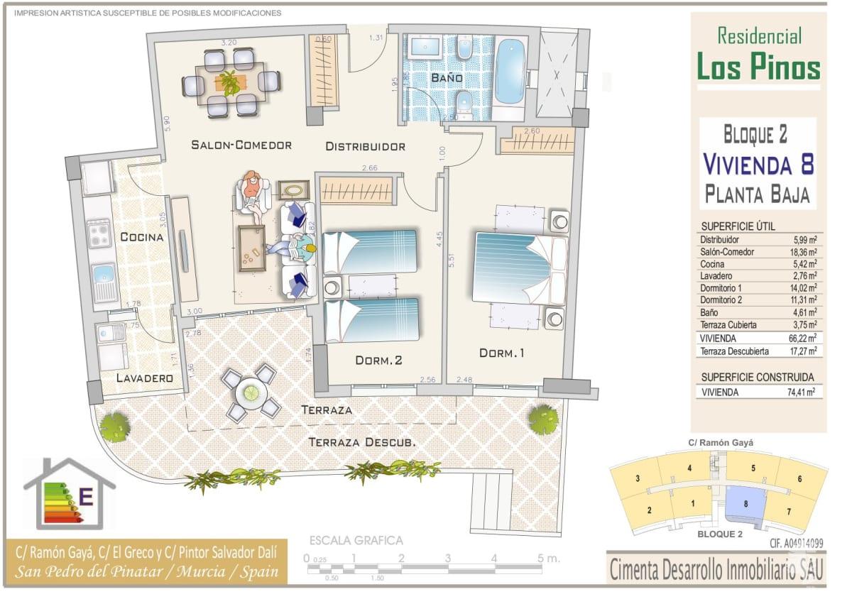 Piso en venta en Piso en San Pedro del Pinatar, Murcia, 85.800 €, 1 baño, 74 m2
