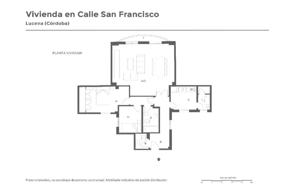 Piso en venta en Piso en Lucena, Córdoba, 82.500 €, 2 habitaciones, 101 m2