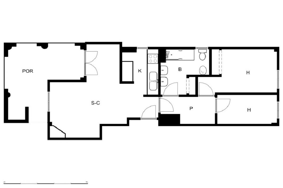 Piso en venta en Piso en Fuente Álamo de Murcia, Murcia, 70.000 €, 2 habitaciones, 1 baño, 87 m2