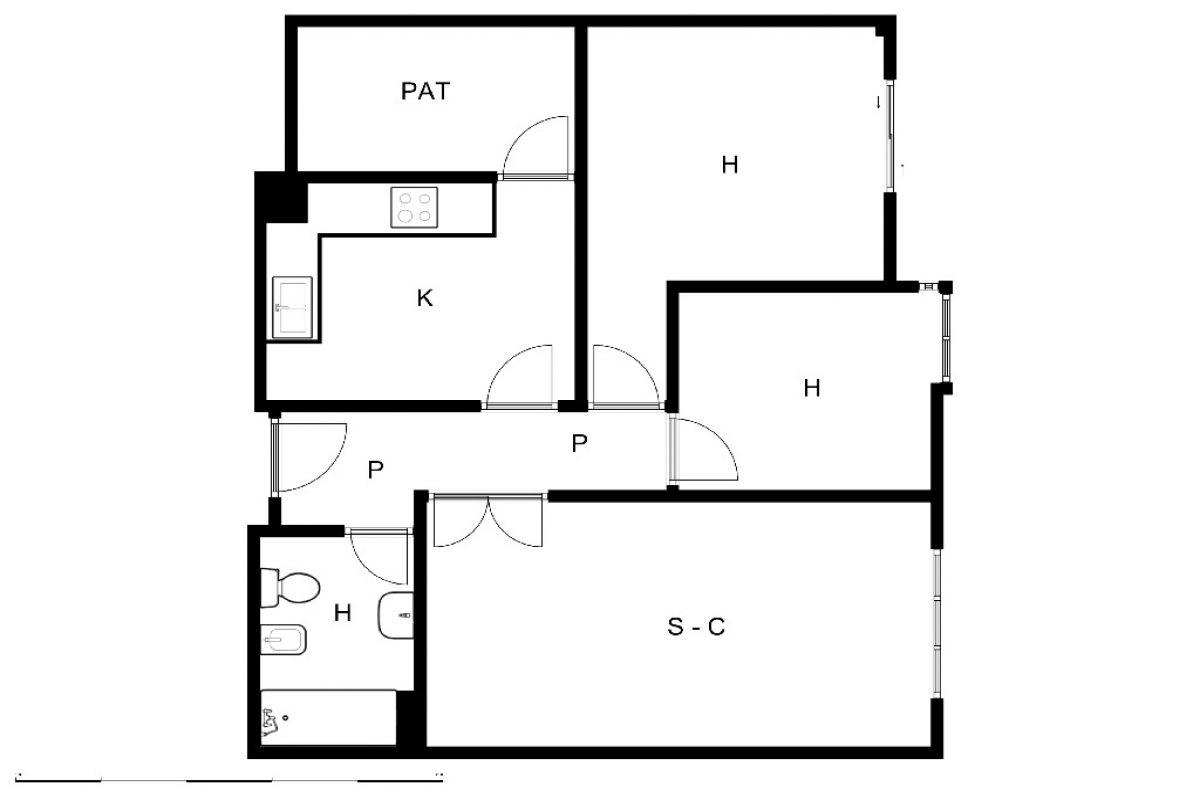 Piso en venta en Piso en Vícar, Almería, 59.400 €, 2 habitaciones, 1 baño, 80 m2