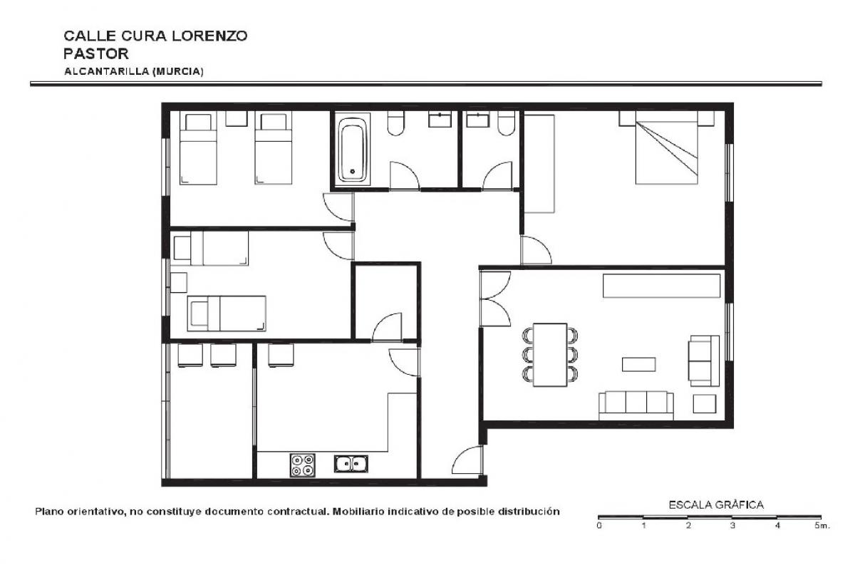 Piso en venta en Piso en Alcantarilla, Murcia, 49.000 €, 3 habitaciones, 1 baño, 104 m2
