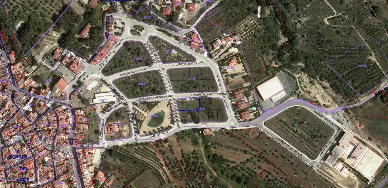 Suelo en venta en Les Borges del Camp, Les Borges del Camp, Tarragona, Calle Recer (del), 73.000 €, 508 m2