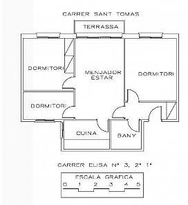 Piso en venta en Piso en Amposta, Tarragona, 35.000 €, 3 habitaciones, 1 baño, 84 m2