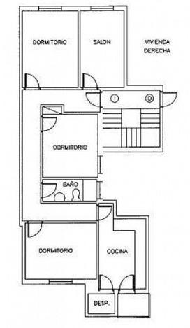 Piso en venta en Piso en Alagón, Zaragoza, 43.100 €, 3 habitaciones, 1 baño, 96 m2