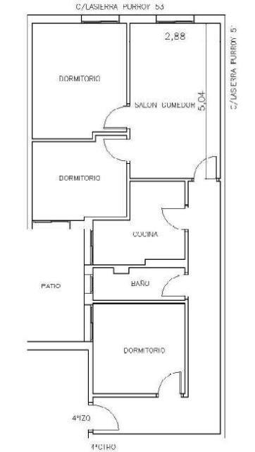 Piso en venta en Urbanización Amelia, Zaragoza, Zaragoza, Calle Lasierra Purroy, 68.300 €, 3 habitaciones, 1 baño, 75 m2
