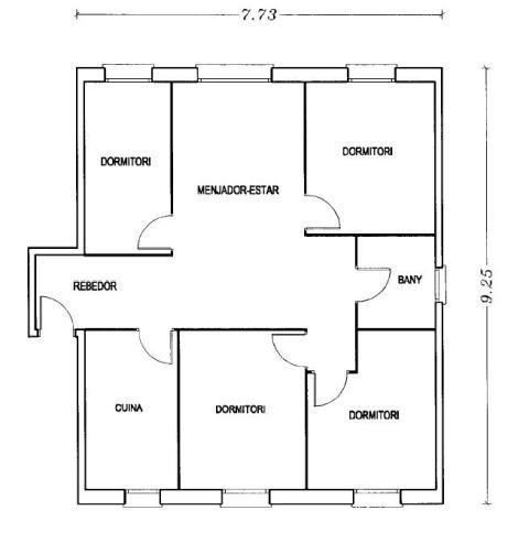 Piso en venta en Piso en Sabadell, Barcelona, 128.000 €, 4 habitaciones, 1 baño, 79 m2