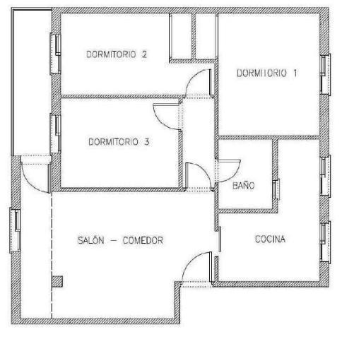 Piso en venta en Piso en Alcalá de Guadaíra, Sevilla, 53.900 €, 3 habitaciones, 1 baño, 78 m2