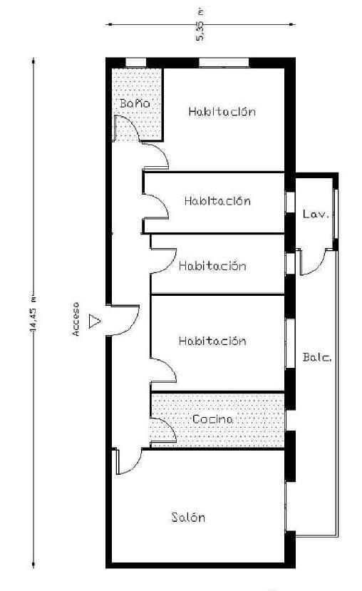 Piso en venta en Sabadell, Barcelona, Calle Casp, 116.100 €, 4 habitaciones, 1 baño, 90 m2
