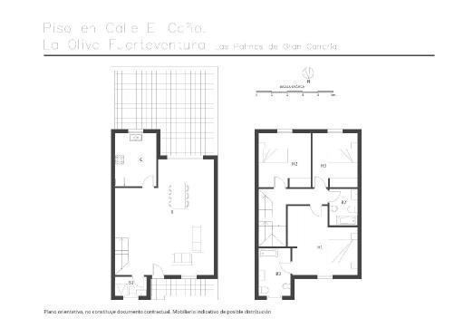Casa en venta en Villaverde, la Oliva, Las Palmas, Calle El Caño, 155.170 €, 3 habitaciones, 3 baños, 117 m2