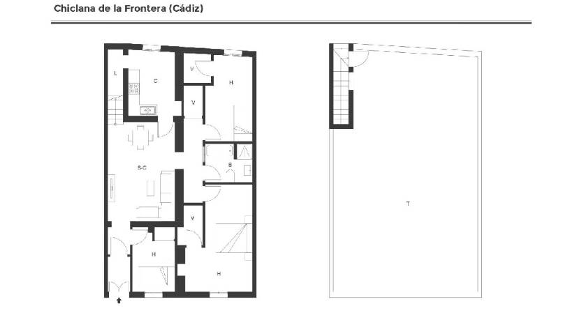 Casa en venta en Chiclana de la Frontera, Cádiz, Calle Murcia, 77.620 €, 3 habitaciones, 1 baño, 84 m2