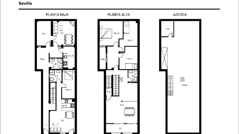 Casa en venta en Sevilla, Sevilla, Calle Camino de los Rojas, 130.560 €, 5 habitaciones, 3 baños, 150 m2
